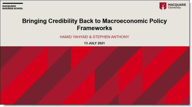 Bringing Credibility Back to Macroeconomic Policy Frameworks